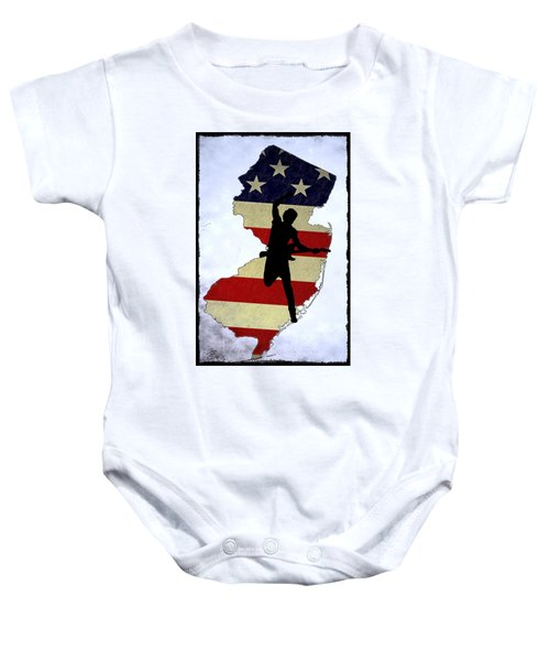 Born In New Jersey Baby Onesie by Bill Cannon