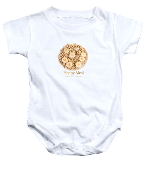 Bowl Of Toasted Oats Cereal Baby Onesie