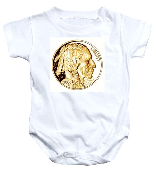 Buffalo Nickel Baby Onesie