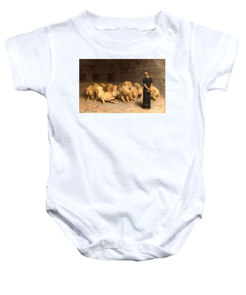 Daniel In The Lions' Den Baby Onesie