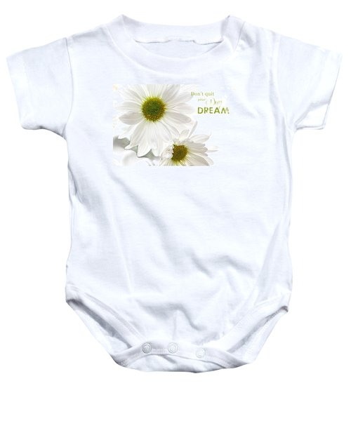 Dreams With Message Baby Onesie