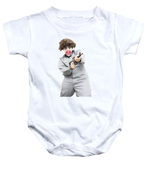 Female Psycho Killer Baby Onesie by Jorgo Photography - Wall Art Gallery