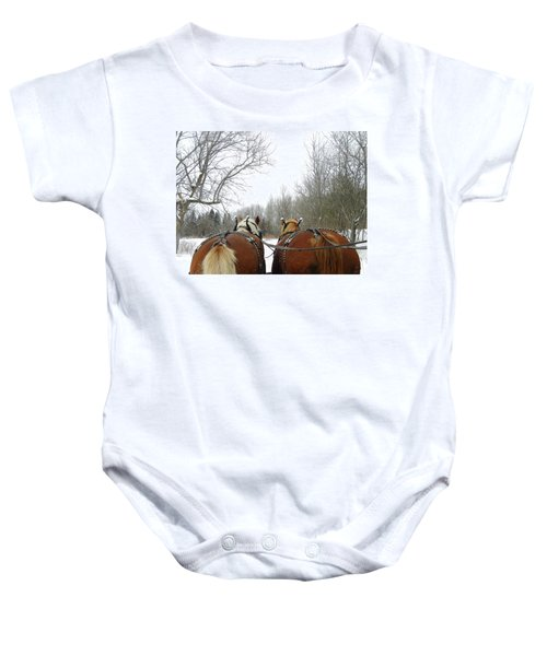 Gee And Haw Baby Onesie