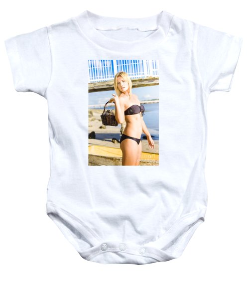 Hunting For Shells Baby Onesie