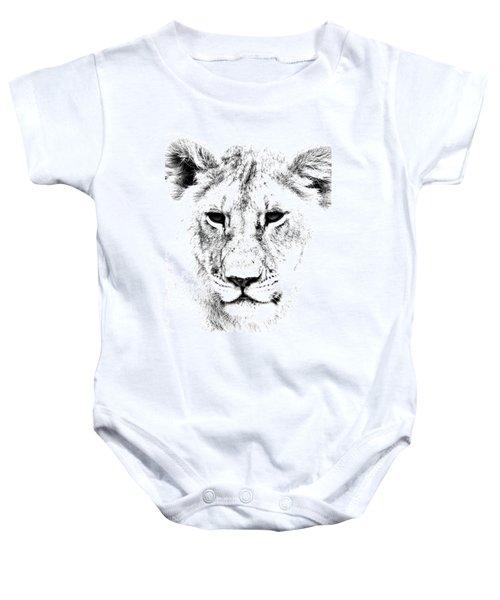 Lion Portrait Baby Onesie
