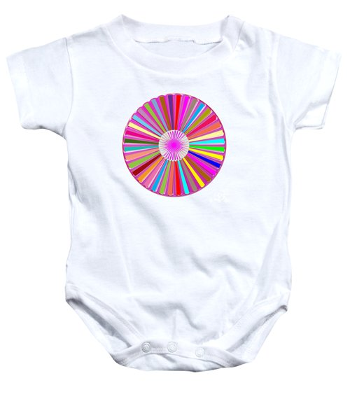 Colorful Signature Art Chakra Round Mandala By Navinjoshi At Fineartamerica.com Rare Fineart Images  Baby Onesie by Navin Joshi