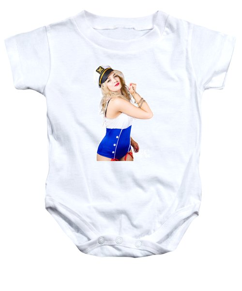 Sailor Fashion Model Wearing Expensive Jewelry  Baby Onesie