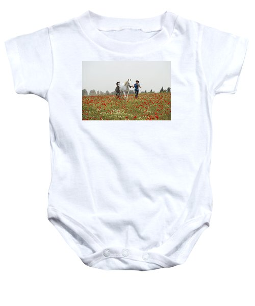 Three At The Poppies' Field... 3 Baby Onesie