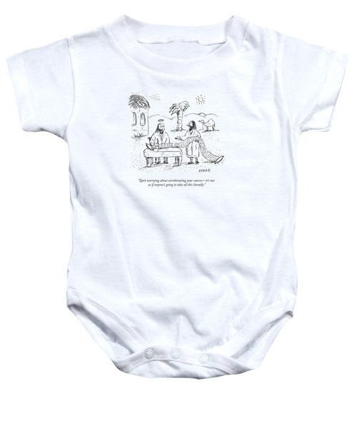 Quit Worrying About Corroborating Your Sources - Baby Onesie