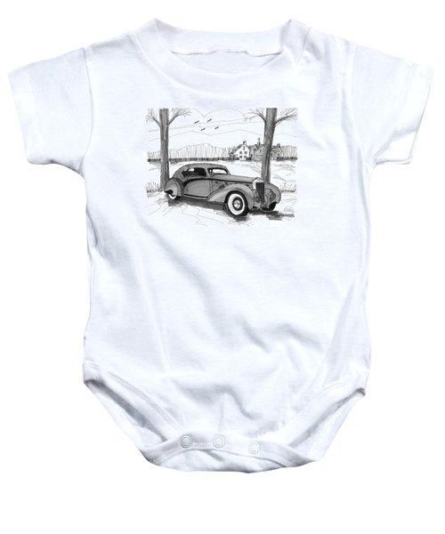 1937 Delage D8 120 Baby Onesie