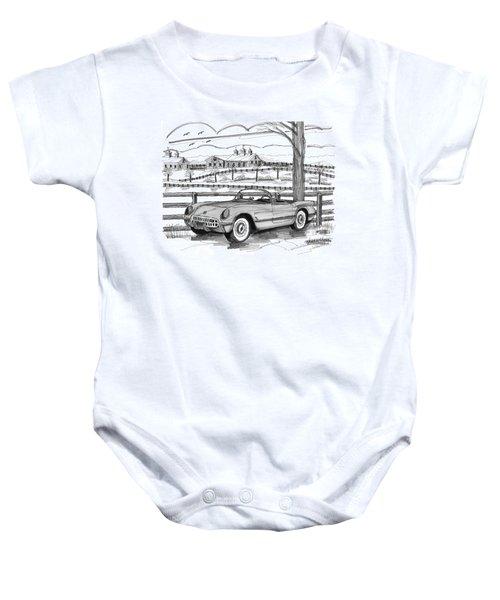 1953 Chevrolet Corvette Baby Onesie