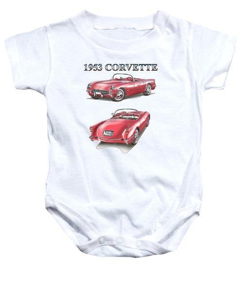 1953 Corvette Baby Onesie