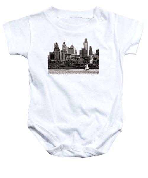 Center City Philadelphia Baby Onesie