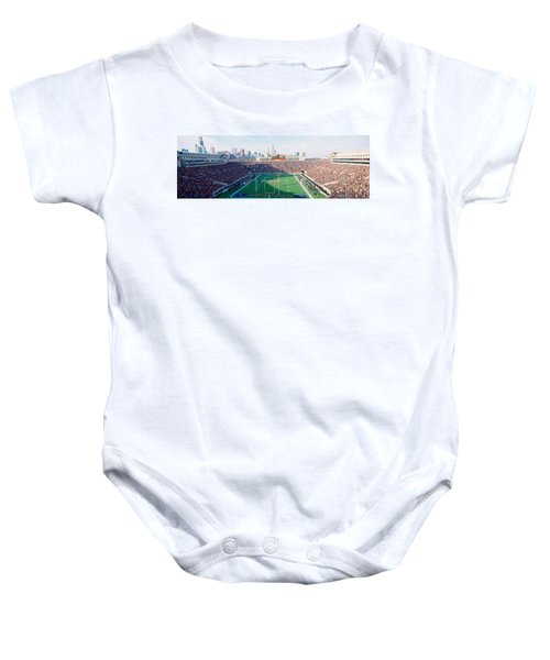 High Angle View Of Spectators Baby Onesie by Panoramic Images