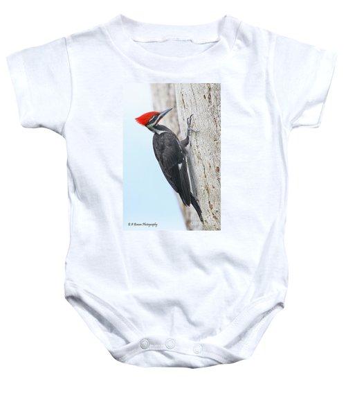 Pileated Woodpecker Baby Onesie