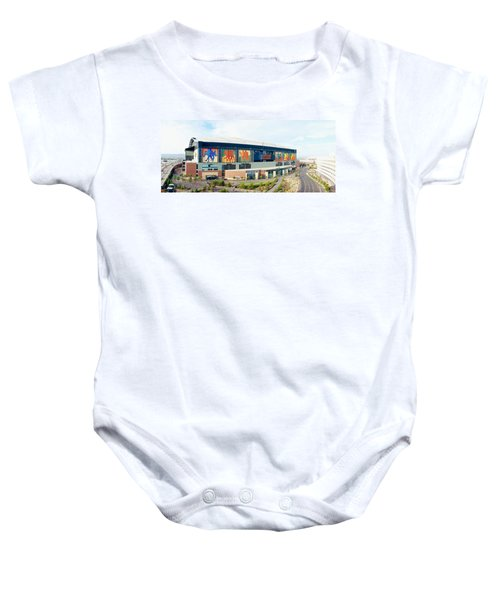 High Angle View Of A Baseball Stadium Baby Onesie