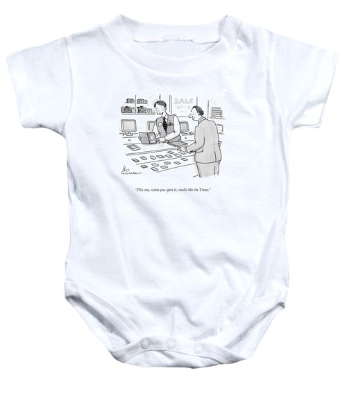 This One, When You Open It, Smells Like The Times Baby Onesie