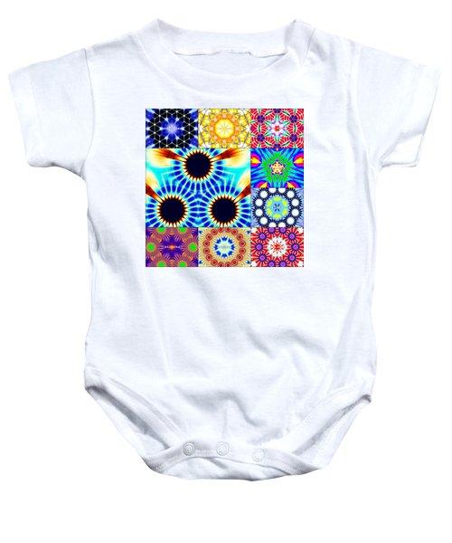 432hz Cymatics Grid Baby Onesie