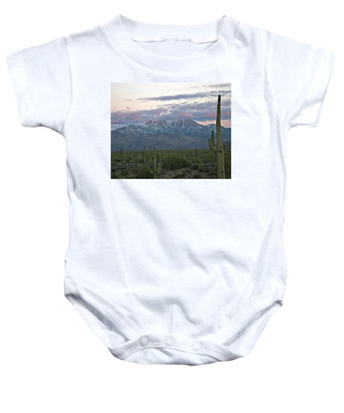 Four Peaks Sunset Snow Baby Onesie