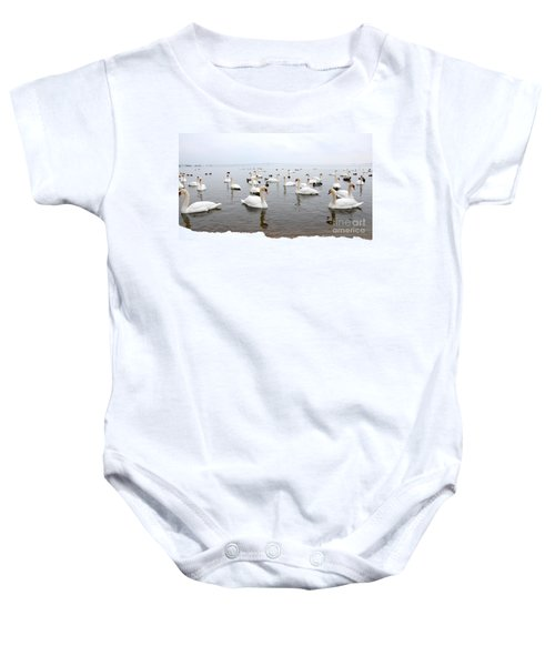 60 Swans A Swimming Baby Onesie