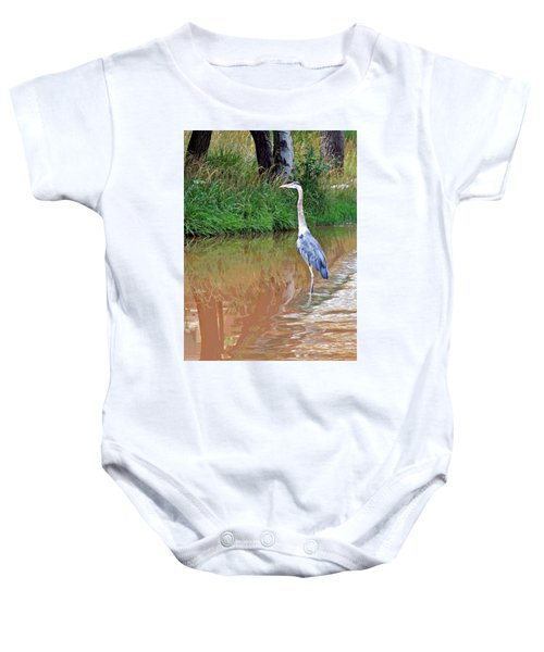 Blue Heron On The East Verde River Baby Onesie