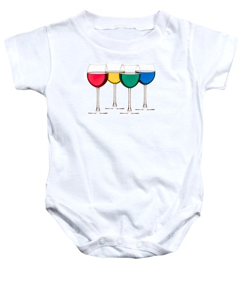 Colorful Drinks Baby Onesie