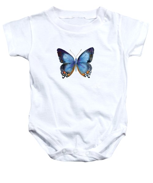 80 Imperial Blue Butterfly Baby Onesie