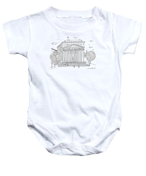 A Building In Washington Dc Is Shown Baby Onesie by Michael Crawford