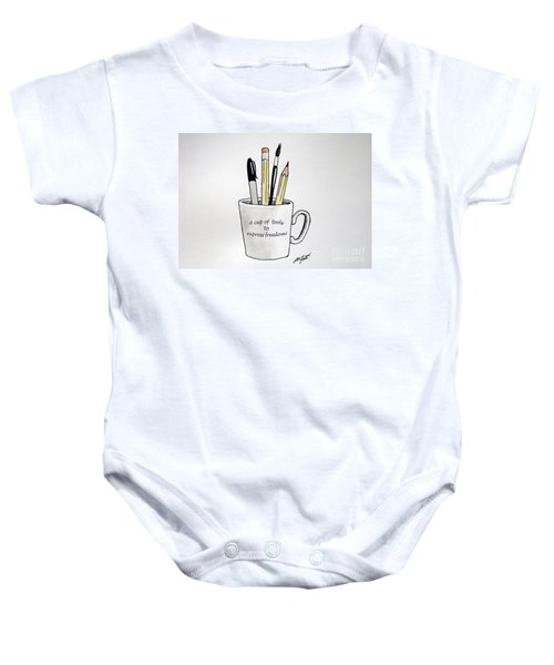 A Cup Of Tools To Express Freedom Baby Onesie
