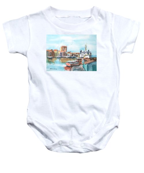 A Curacao Morning Baby Onesie