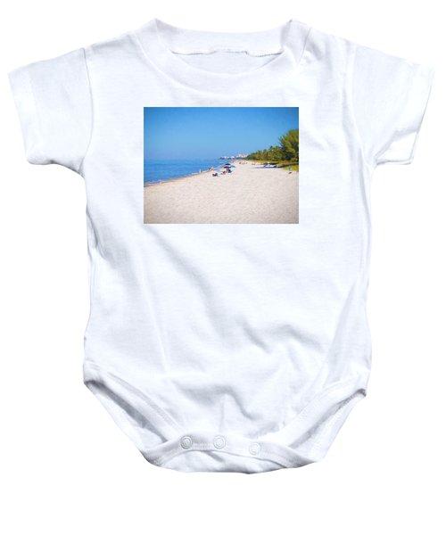 A Day At Naples Beach Baby Onesie