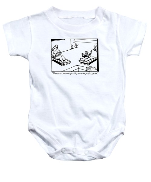 A Husband And Wife Recline Next To Their Pool Baby Onesie