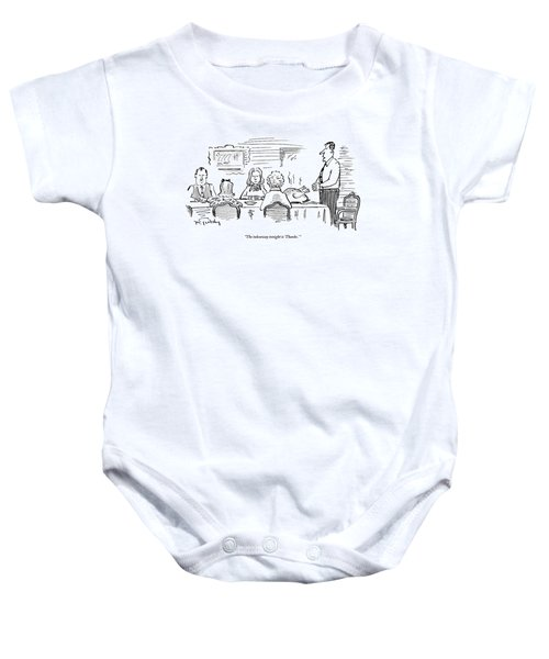 68500b4fed57 A Husband Stands Up Before The Thanksgiving Baby Onesie