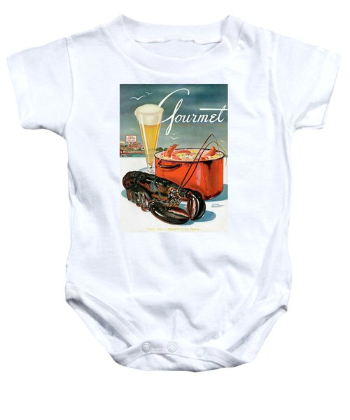 A Lobster And A Lobster Pot With Beer Baby Onesie