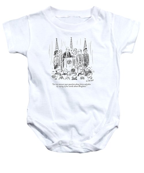 A Politician Speaks At A Podium Baby Onesie