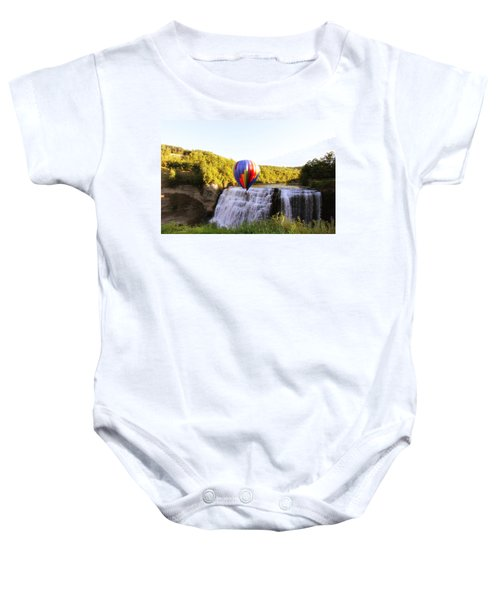A Ride Over The Falls Baby Onesie