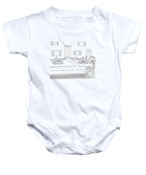 A Suburban Lemonade Stand Attracts No Business Baby Onesie