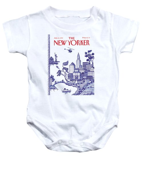 A View Of New York City Baby Onesie