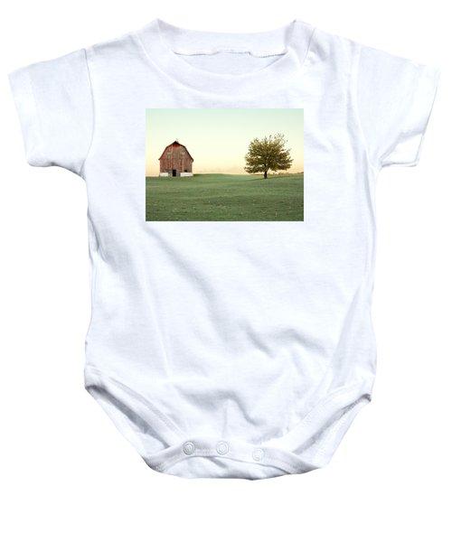 A Wisconsin Postcard Baby Onesie