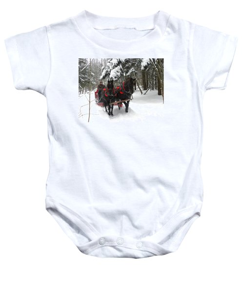 A Wonderful Day For A Sleigh Ride Baby Onesie