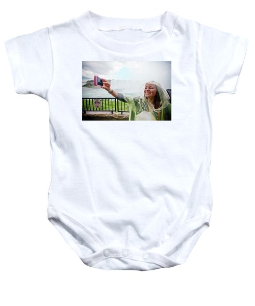 A Young Woman Snaps A Selfie Baby Onesie