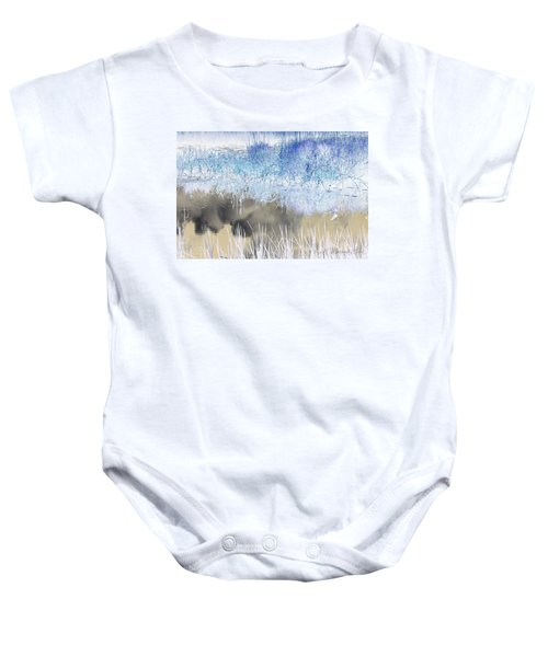 Abstract Marsh  Baby Onesie