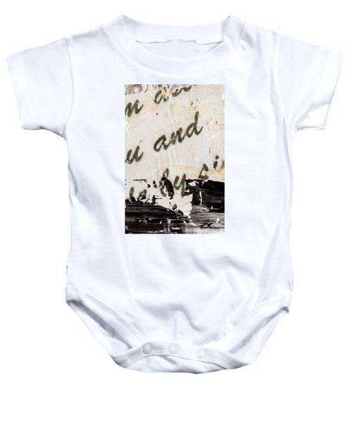 Abstract Original Painting Number Six Baby Onesie