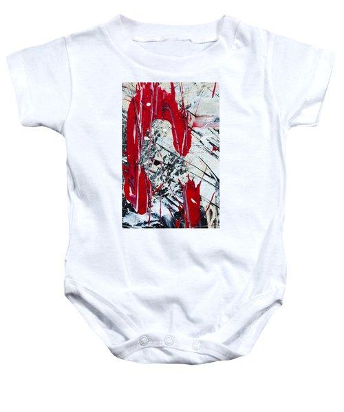 Abstract Original Painting Untitled Nine Baby Onesie