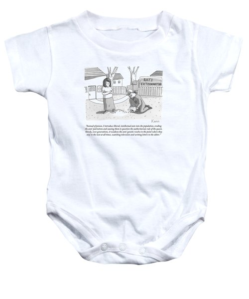 An Exterminator Explains What He Is Doing Baby Onesie