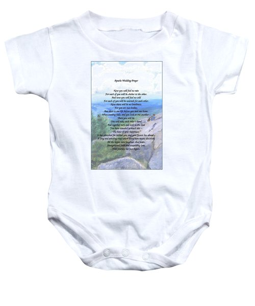 Apache Wedding Prayer Baby Onesie