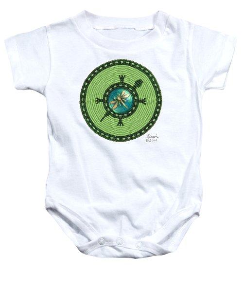 Ashlee's Dragonfly Turtle Baby Onesie
