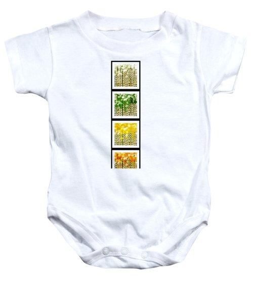Aspen Colorado Abstract Vertical 4 In 1 Collection Baby Onesie