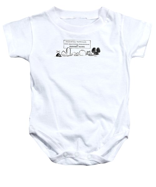 Assorted Toppings The Headgear Collection Baby Onesie by Lee Lorenz