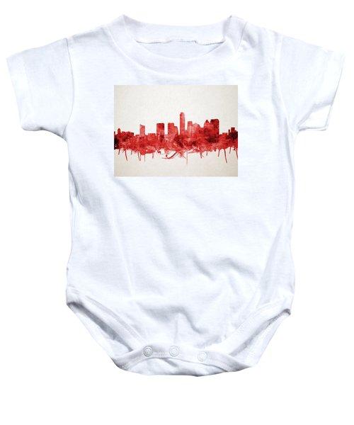 Austin Texas Skyline Watercolor 4 Baby Onesie